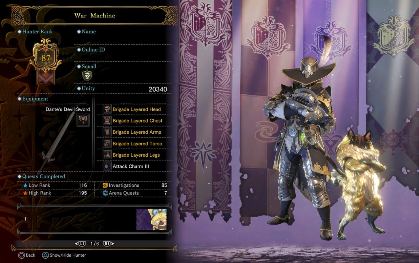 How To Get The Brigade Layered Armor In Monster Hunter Worlds