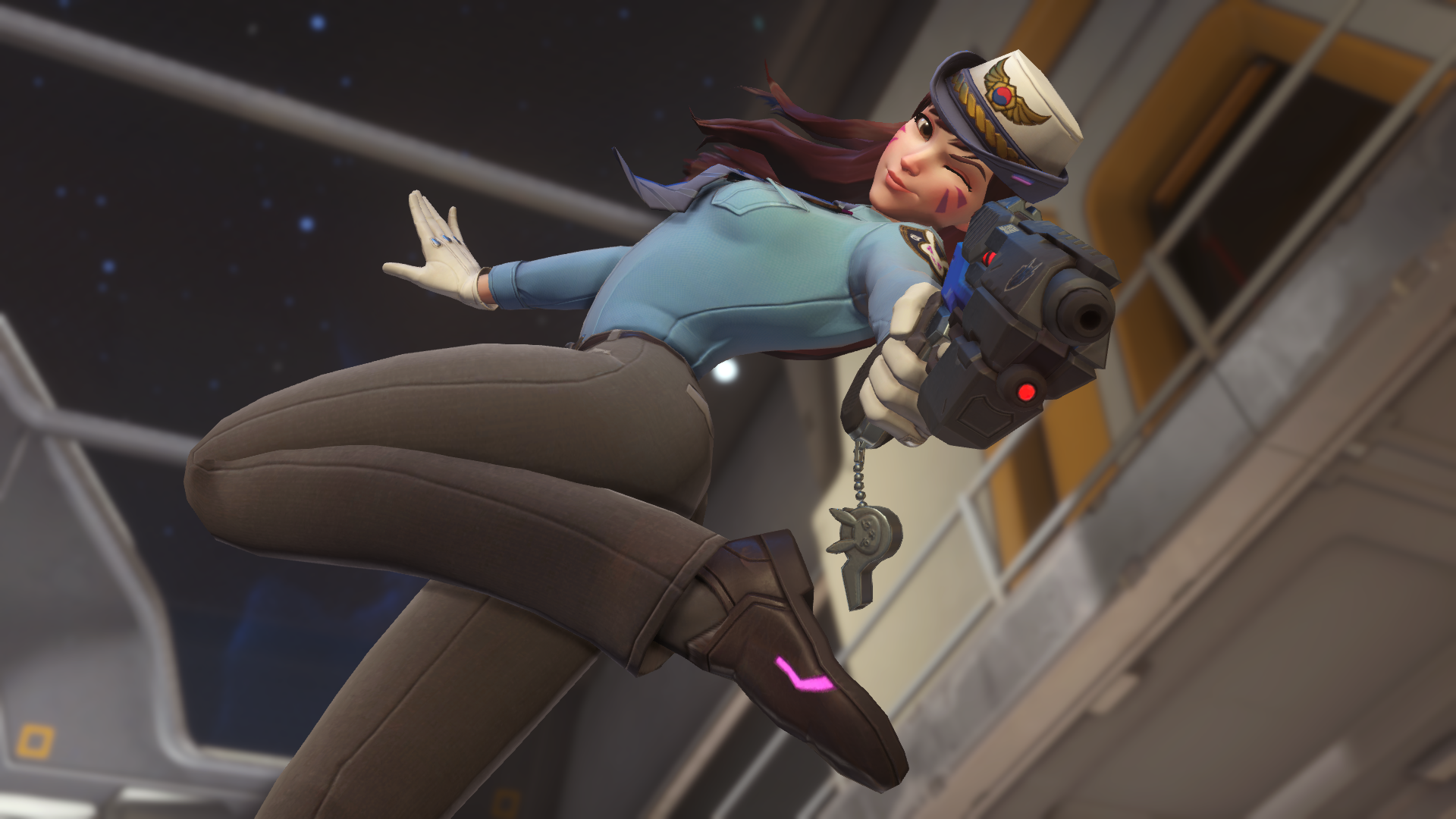 Overwatch S Best Two Skins Officer D Va And Oni Genji Are Now