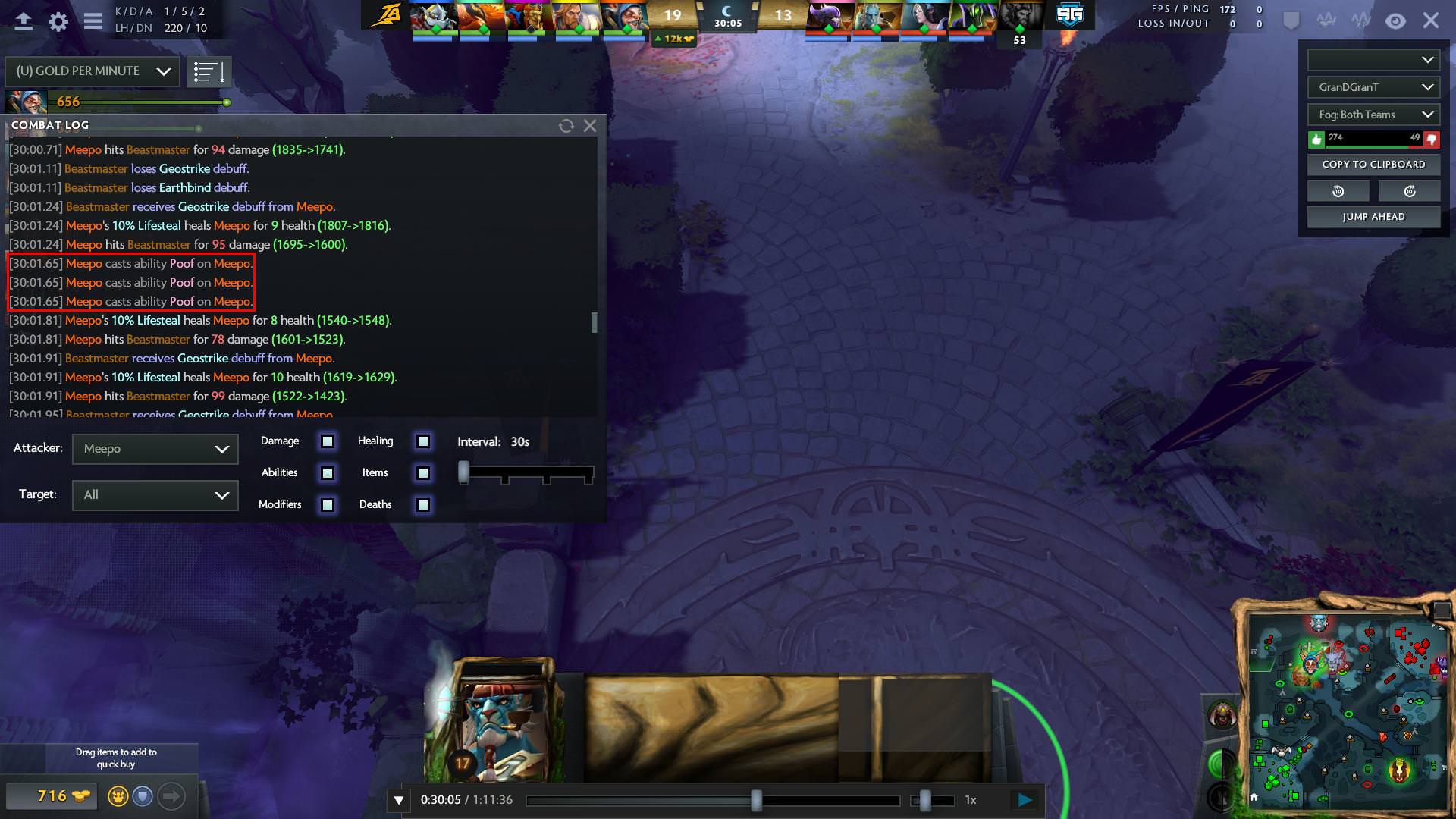 South American player accused of using illegal macro in TI8