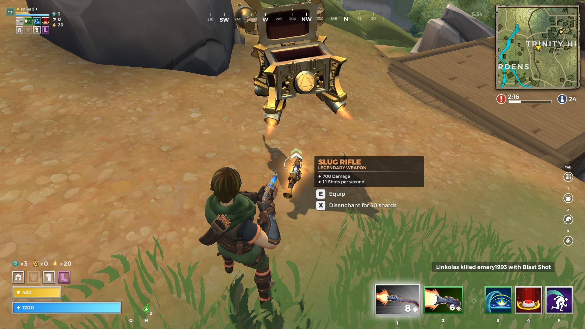 how to see realm royale damage