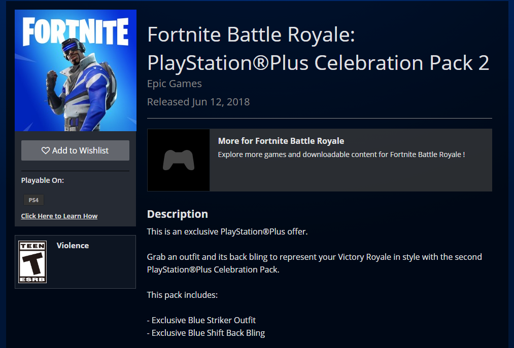 A second free Fortnite skin for PlayStation Plus users is now live