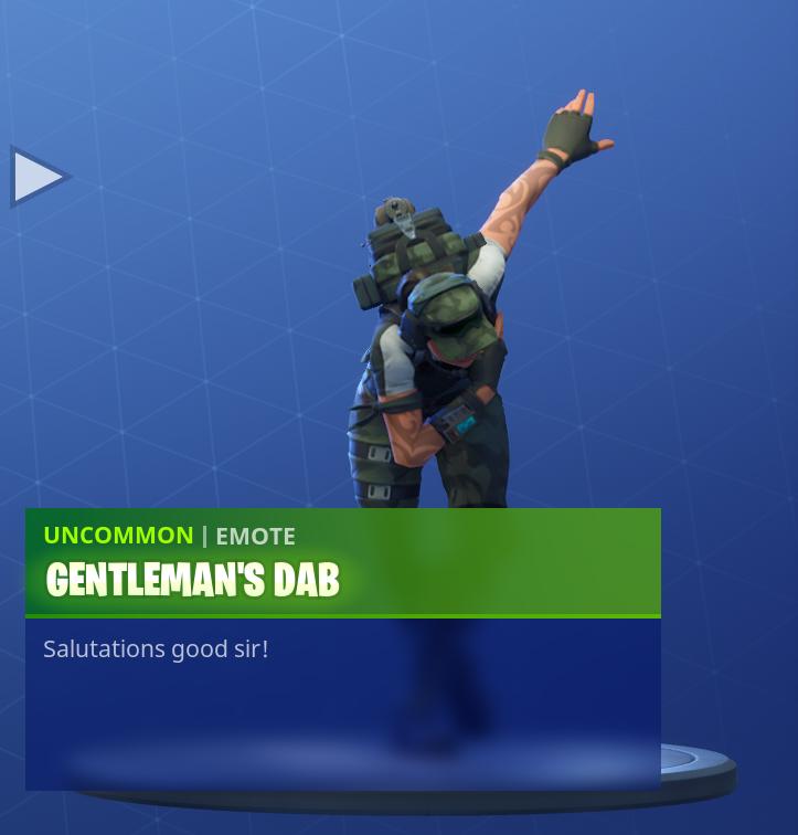 gentleman s dab - fortnite emoticon loading screen