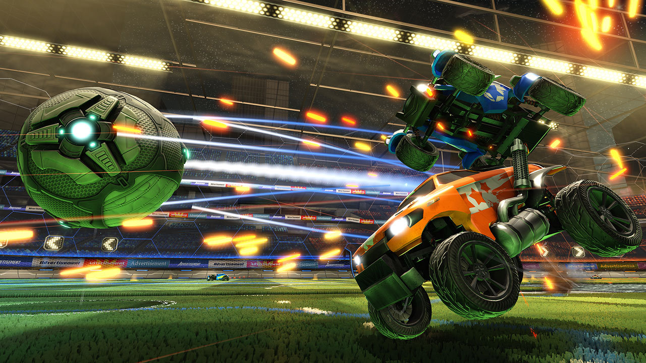 Go head-to-head in vehicular soccer with this classic co-op title, Rocket League.
