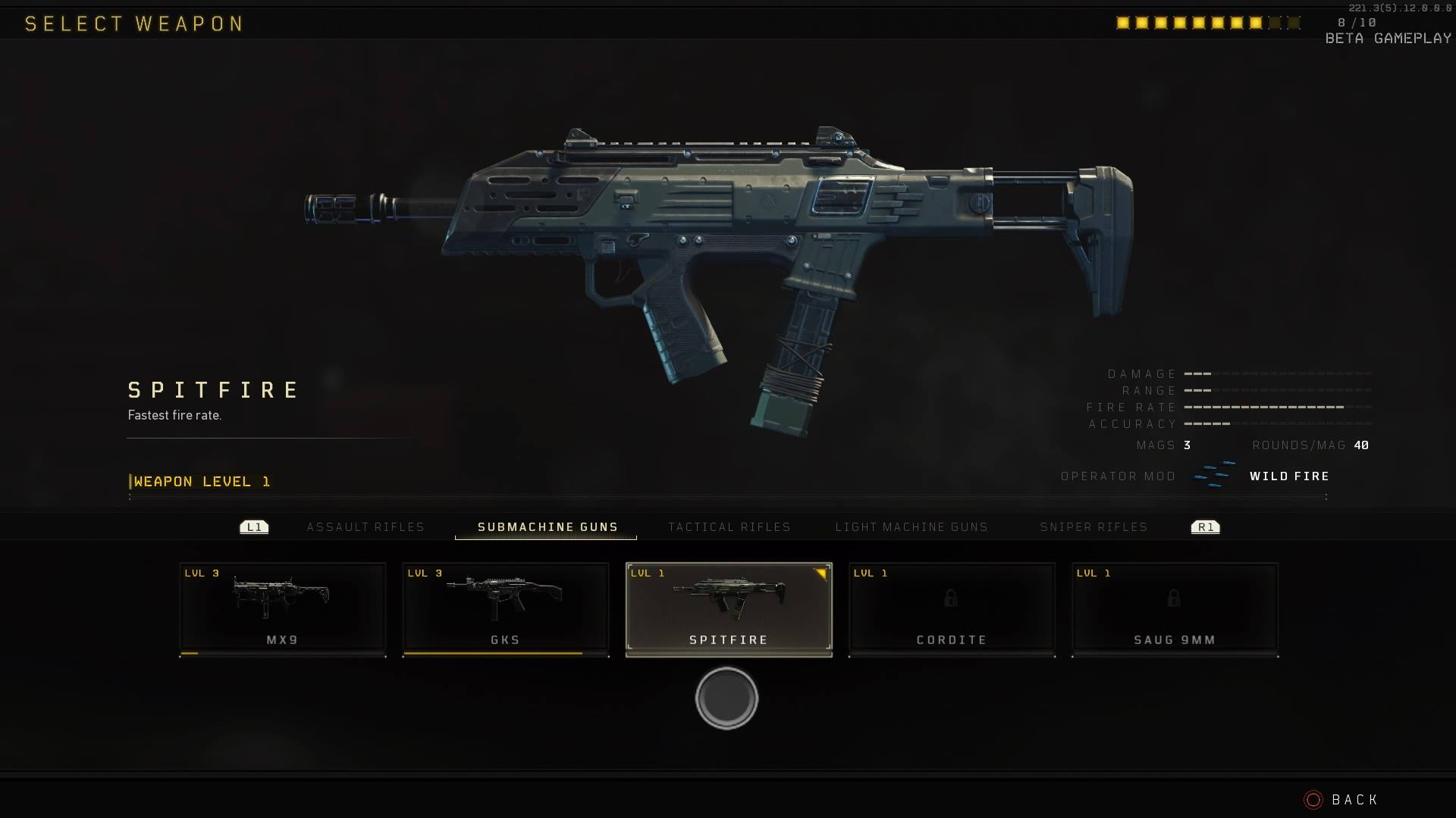 All of the weapons in the Call of Duty: Black Ops 4 private