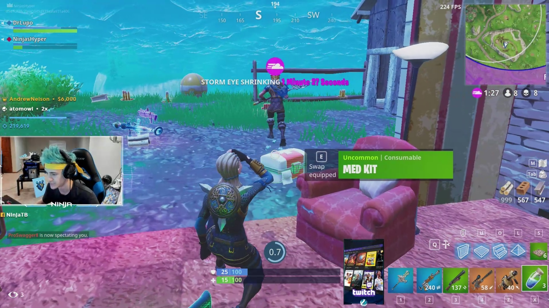 ninja and esports arena are partnering for a fortnite charity event in las vegas - ninja fortnite event