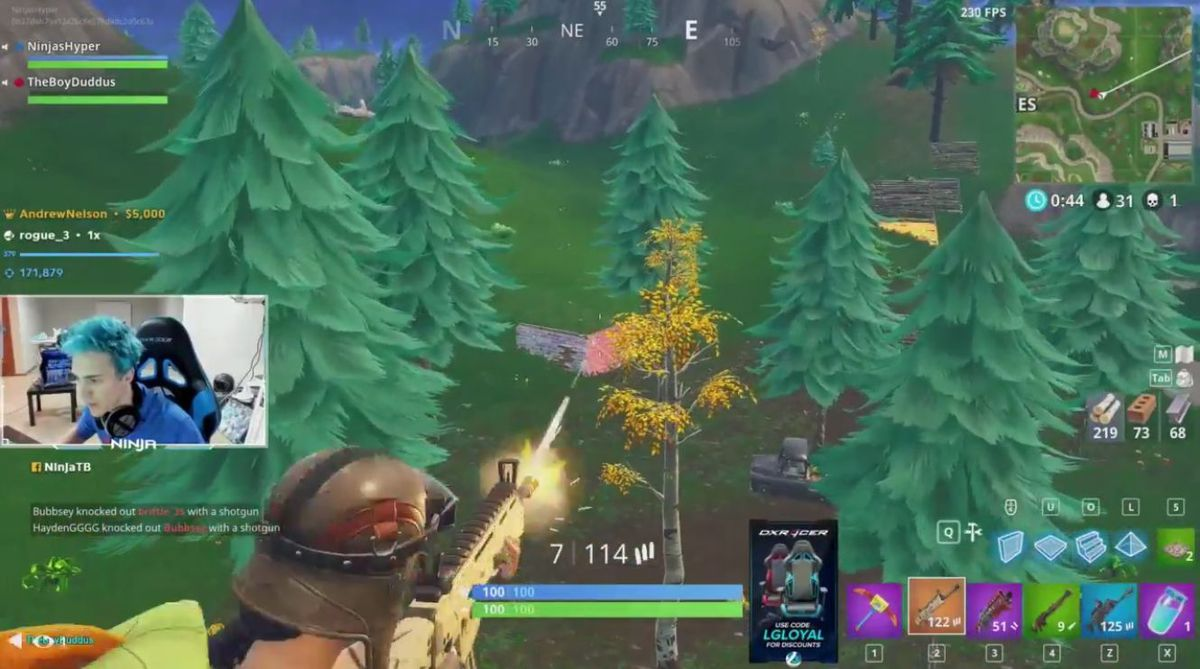 Over 600,000 viewers watch Twitch streamer Ninja play Fortnite with