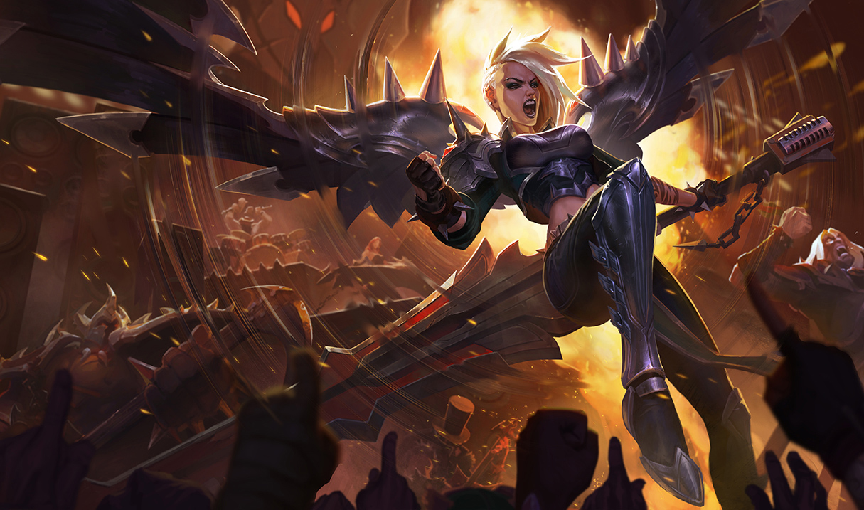 Pentakill Kayle is on the way to celebrate the band's second album, and she  rocks