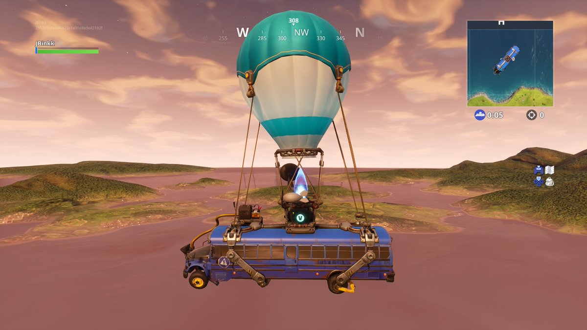 fortnite s overtime bus driver challenge has a bug that isn t letting players claim their free season 8 battle pass - fortnite hot air balloon