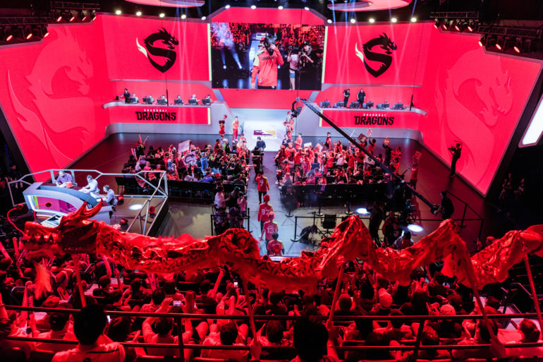 Shanghai Dragons entrance