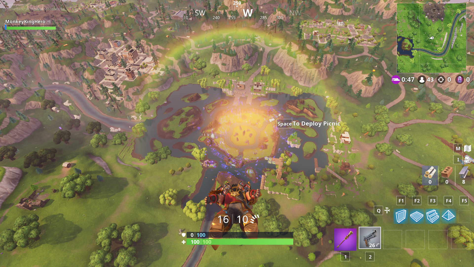 fortnite s giant purple cube exploded during the one time event creating a new leaky lake - preston fortnite newest video