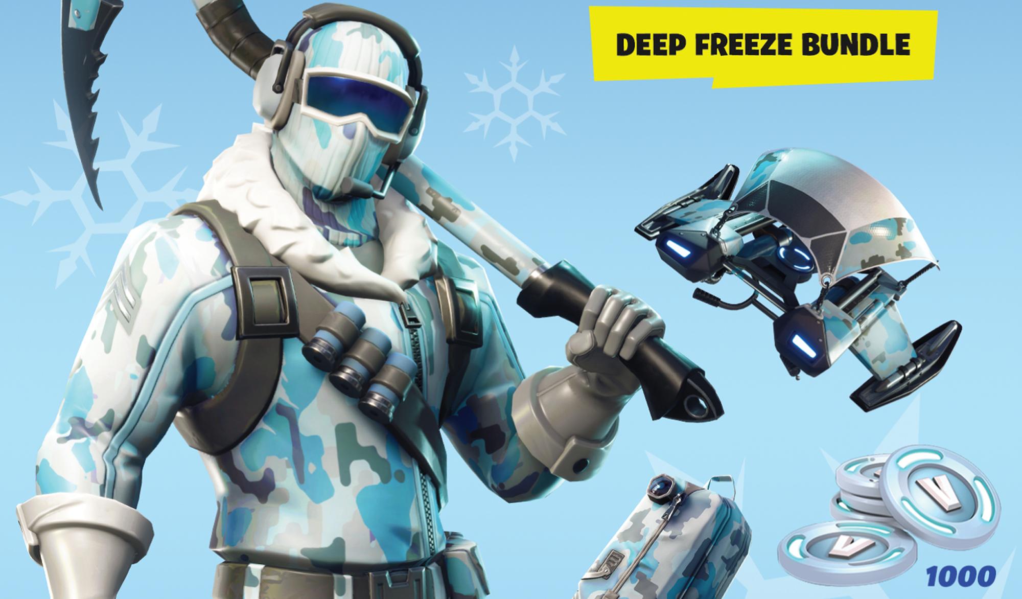fortnite s deep freeze bundle leaves the game today - fortnite cobalt starter pack ps4
