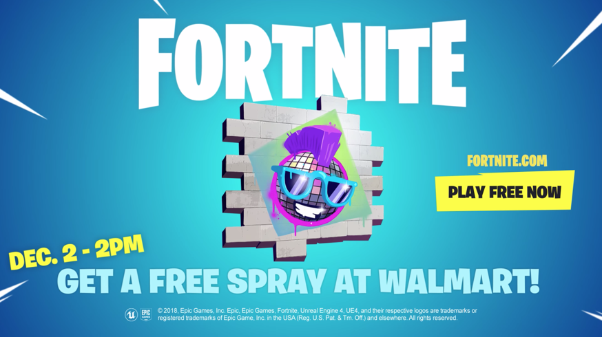 Walmart is giving out an exclusive Fortnite spray for free