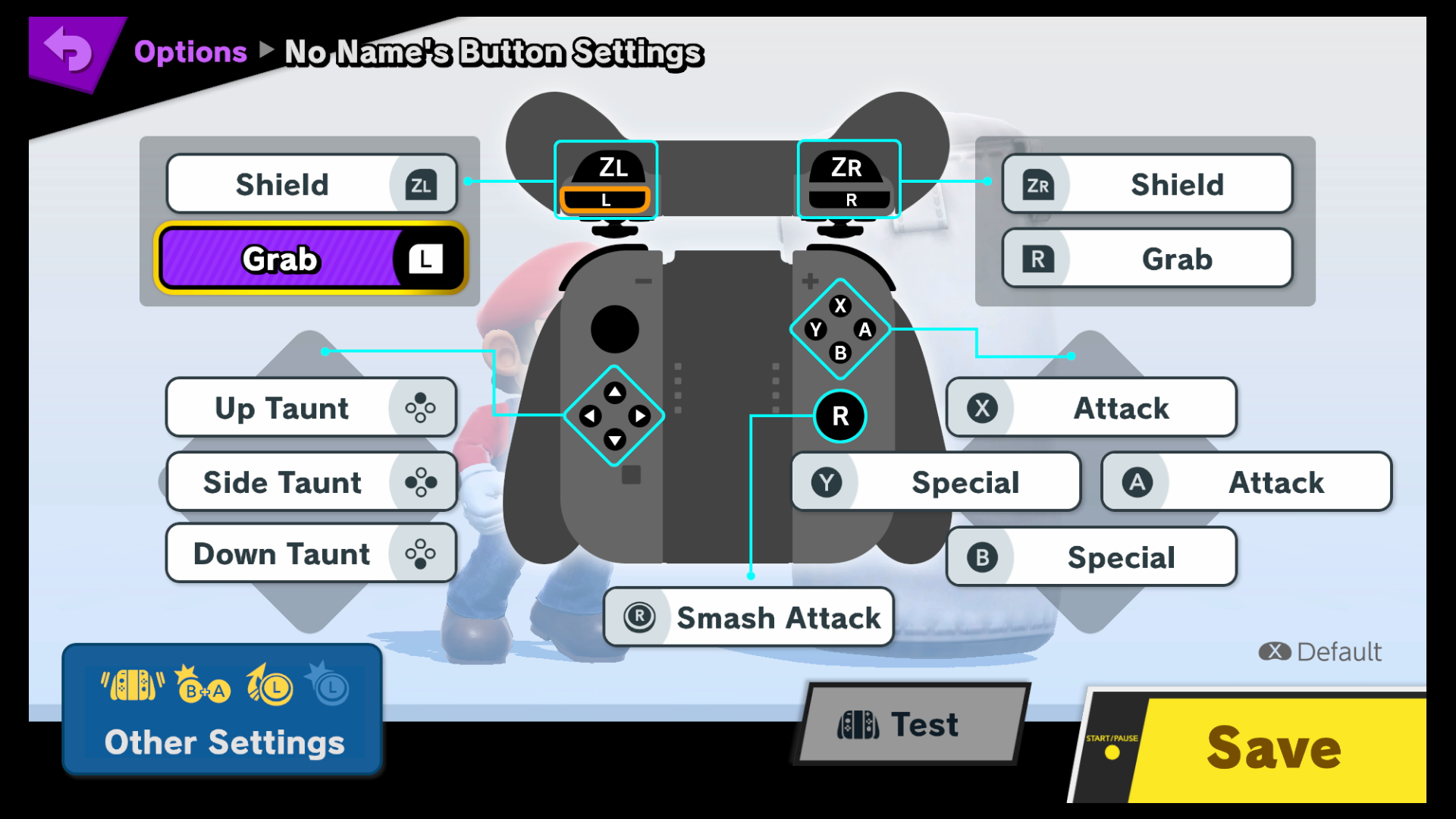 how to change controls on super smash flash