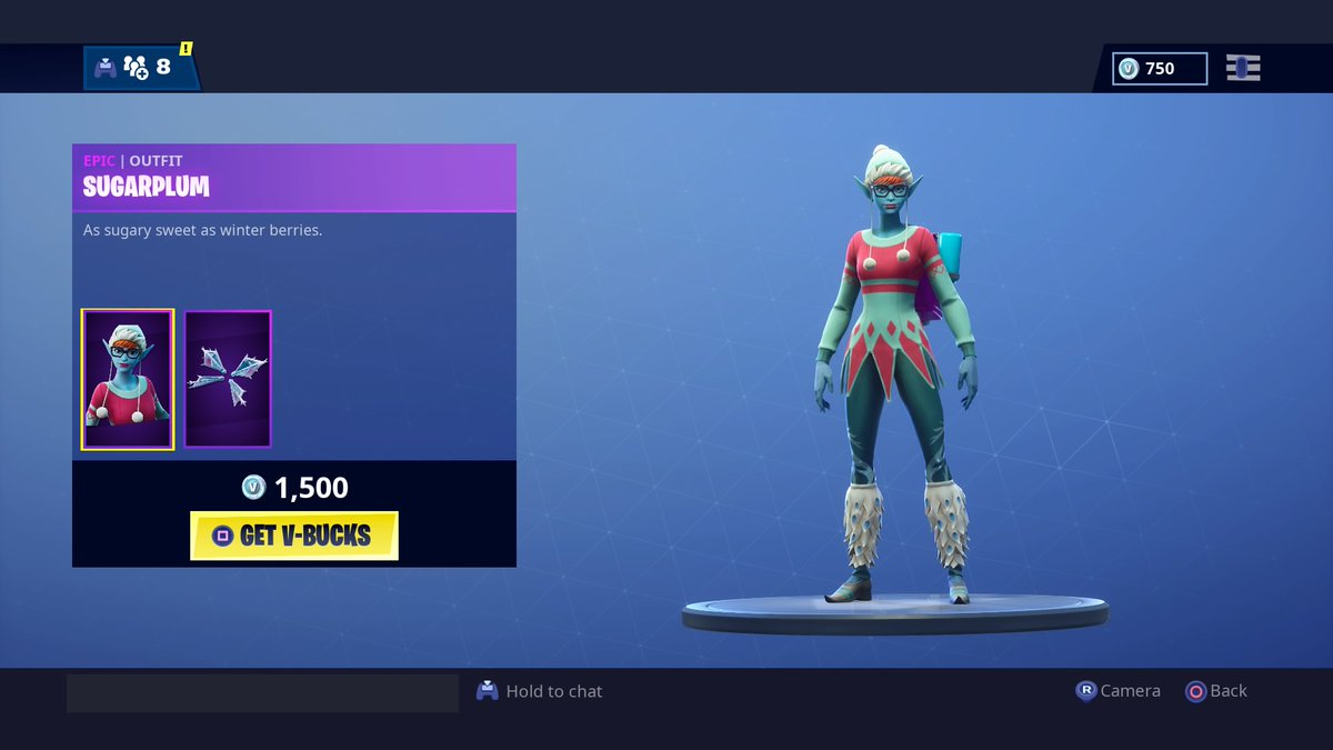 Sugarplum skin now available in Fortnite's Item Shop | Dot Esports