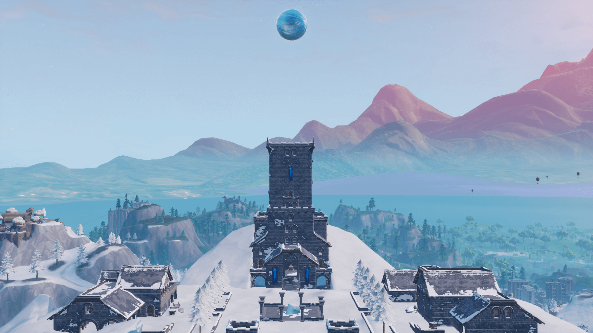 a giant ice sphere is now floating over polar peak in fortnite - how to break the ice in fortnite
