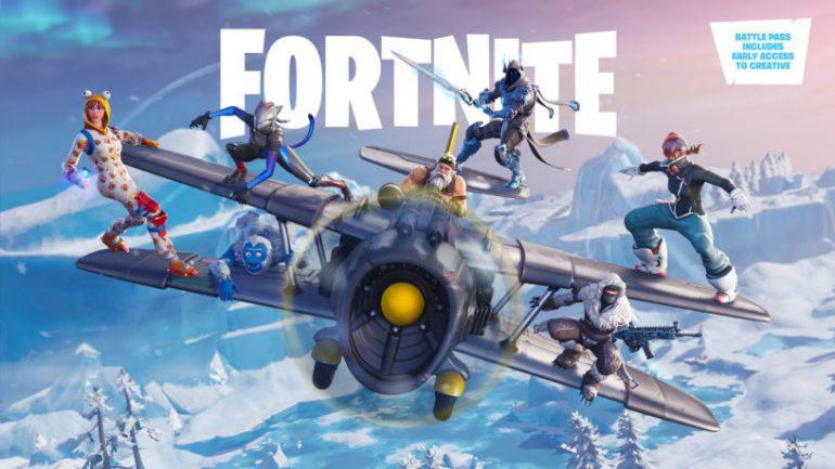 Fortnite-skins-on-plane