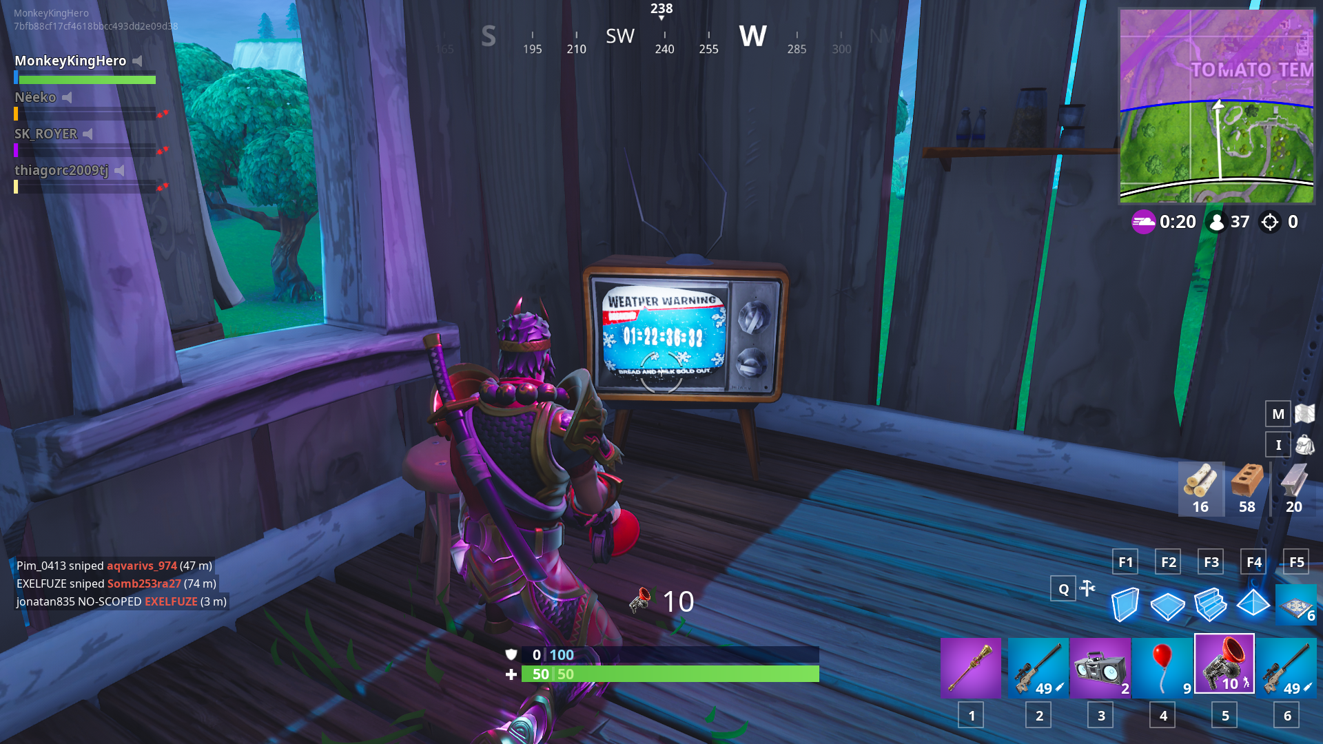 fortnite tvs now have a countdown for a potential winter storm - fortnite fortnite 22