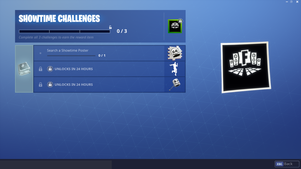 New Fortnite Challenges Before DJ Marshmello Concert — Showtime Posters