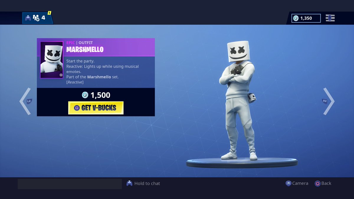 Marshmello Skin Glider And Emote Added To Fortnites Item