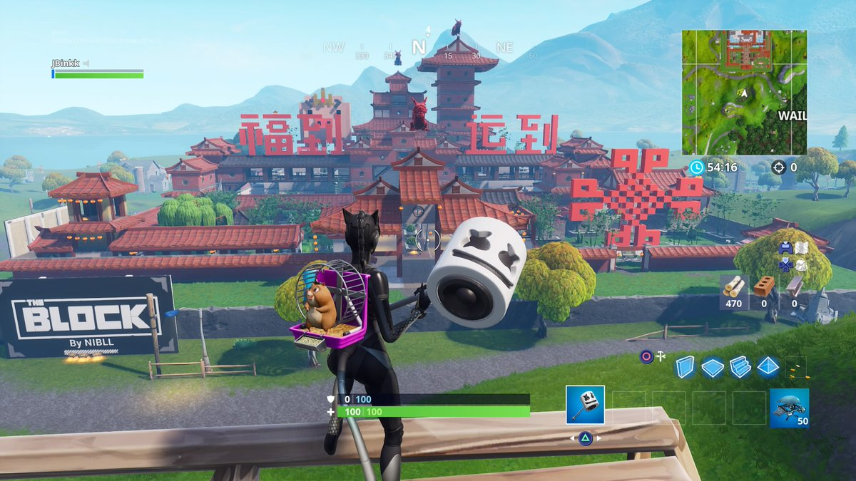new location added to fortnite s the block in honor of the chinese new year - fortnite rocket locations