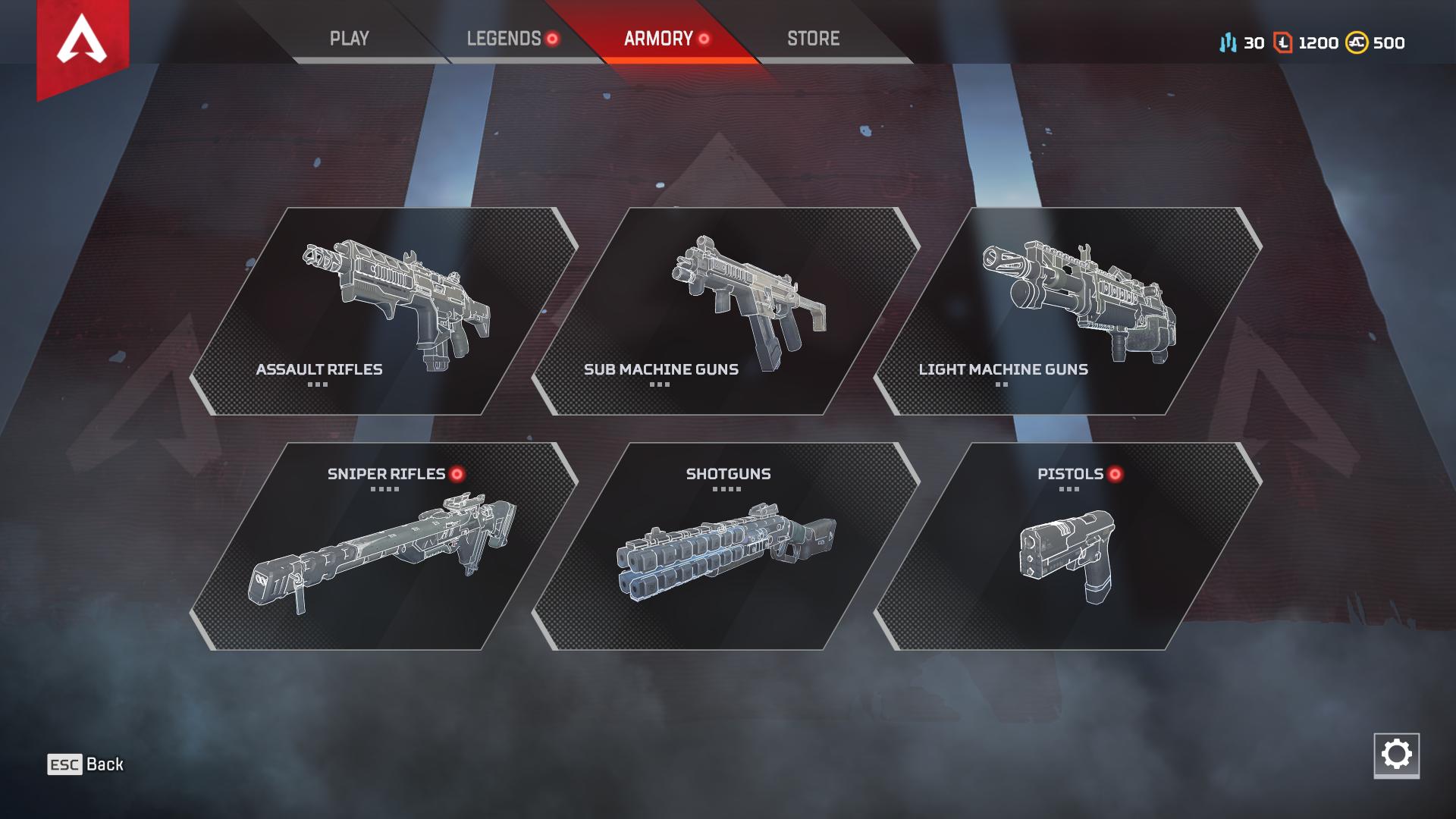 Kết quả hình ảnh cho apex legends weapons