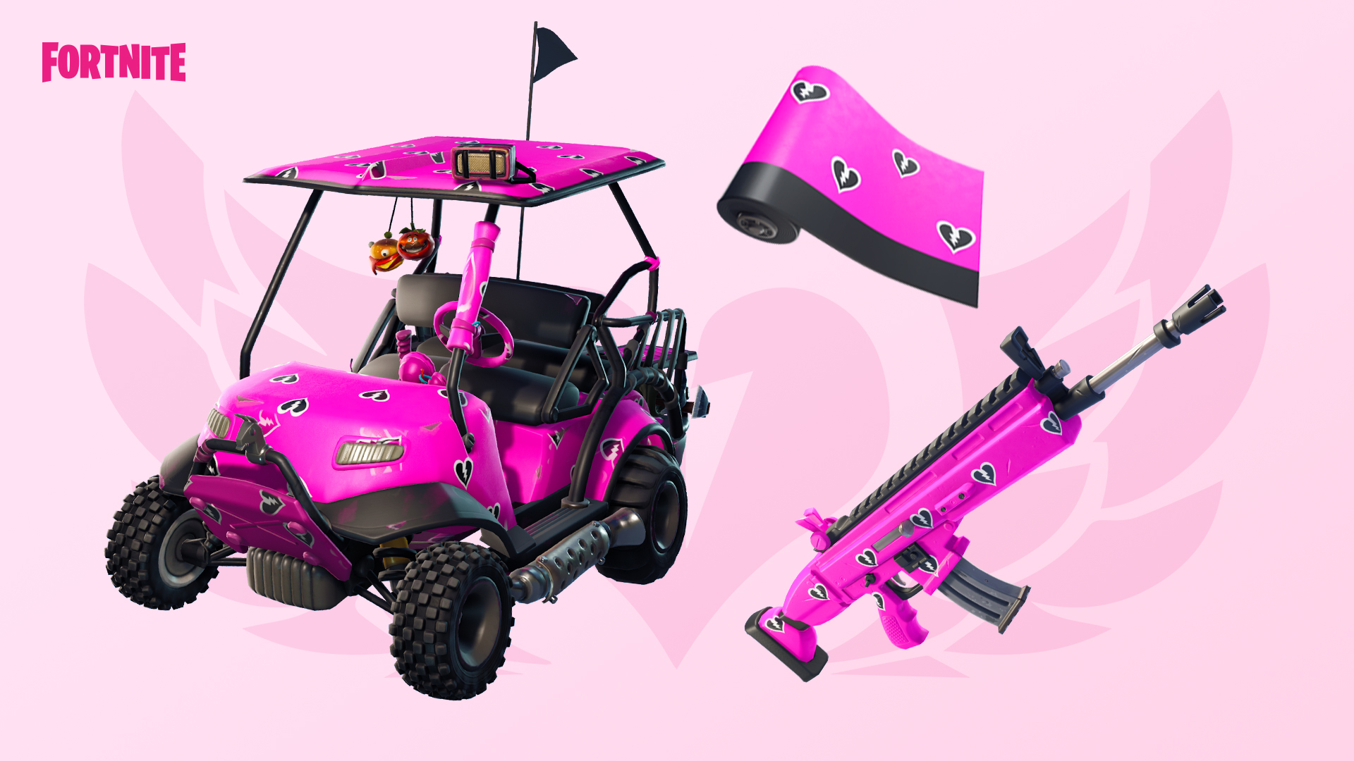 how to get the free cuddle hearts wrap in fortnite - fortnite pink bear head