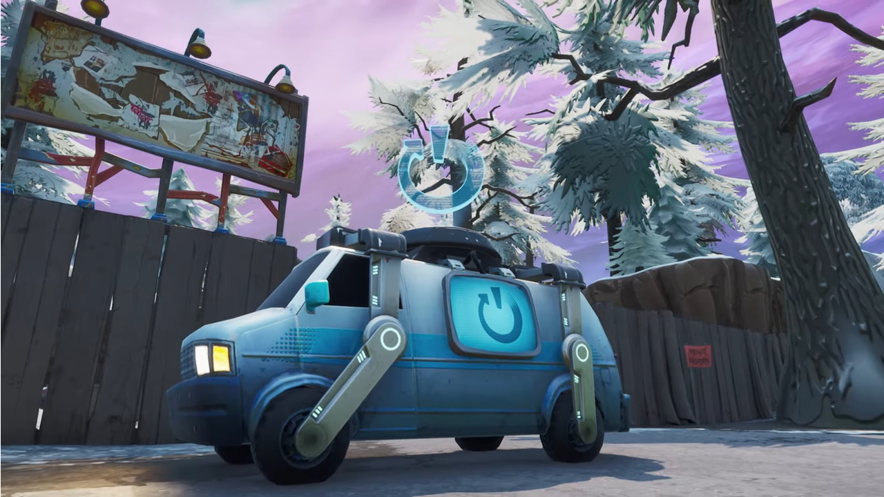 Reboot Van landing in Fortnite this week
