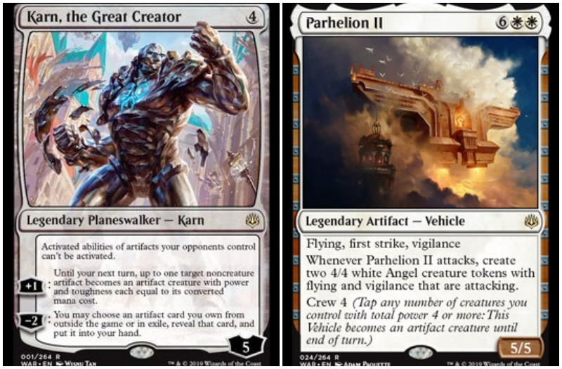 Karn, the Great Creator and Parhelion II MTG War of the Spark