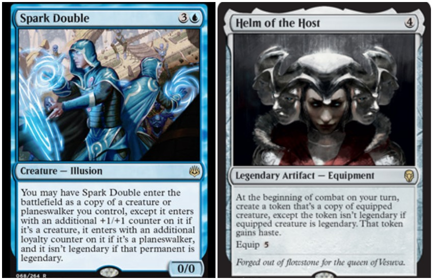 Jace Spark Double Vs. Helm of the Host MTG