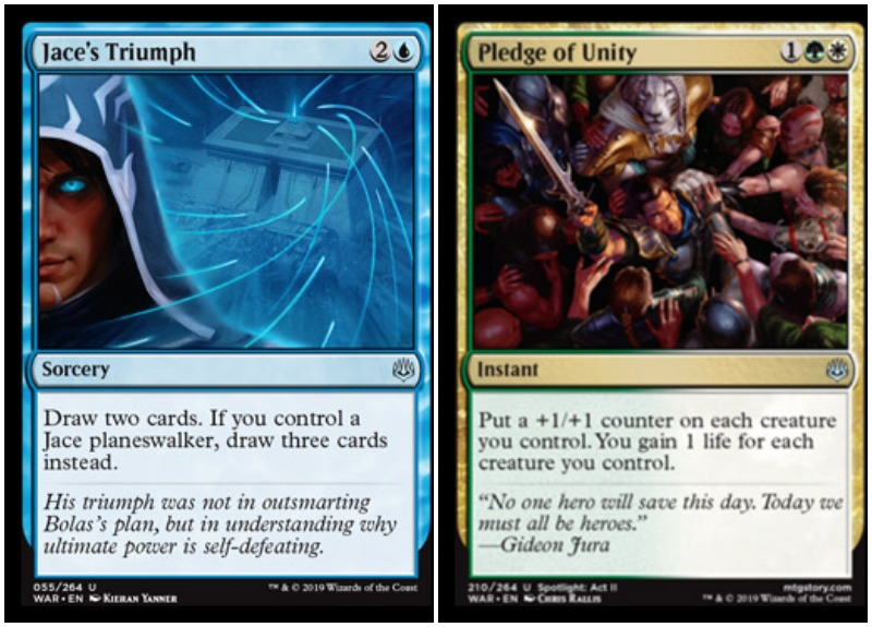 Jace's Triumph and Pledge of Unity MTG War of the Spark Spoiler