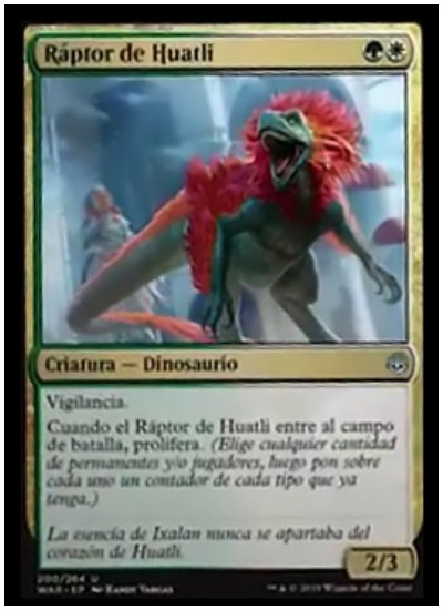 Huatli's Raptor spoiler card MTG War of the Spark