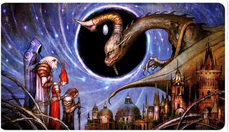 Seb McKinnon recent artwork on MTG War of the Spark card Deliver Unto Evil