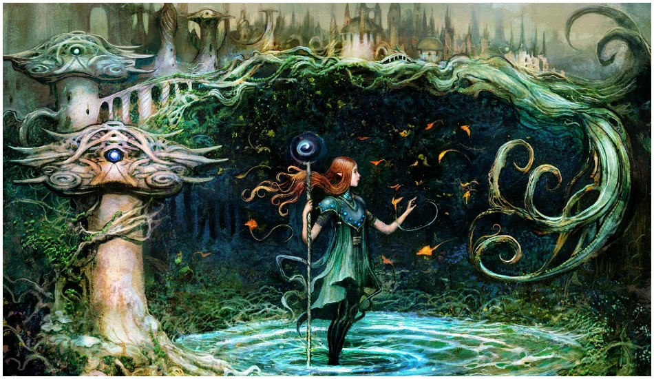 Seb McKinnon artwork on MTG card Growth Spiral