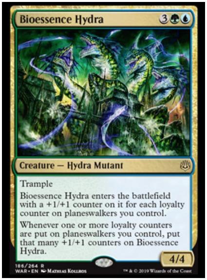 Bioessence Hydra MTG War of the Spark Simic spoiler