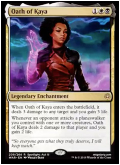 Oath of Kaya MTG War of the Spark spoiler legendary enchantment