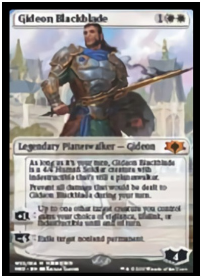 Gideon Blackblade MTG War of the Spark Planeswalker