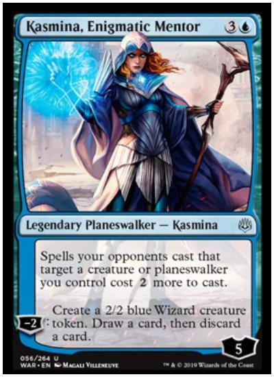 Kasmina, Enigmatic Mentor MTG War of the Spark Planeswalker