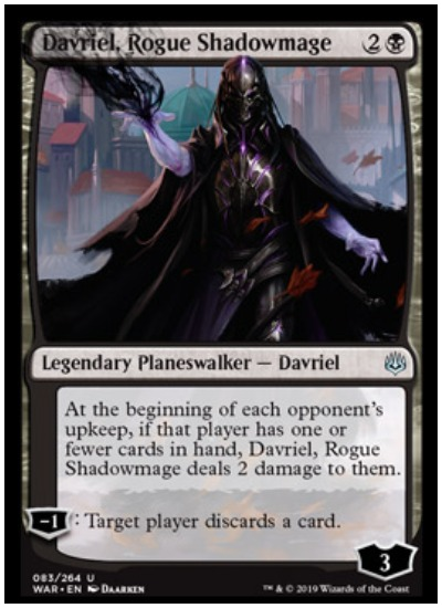 Davriel, Rogue Shadowmage MTG War of the Spark Planeswalker