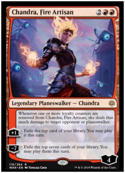 Chandra, Fire Artisan MTG War of the Spark Planeswalker