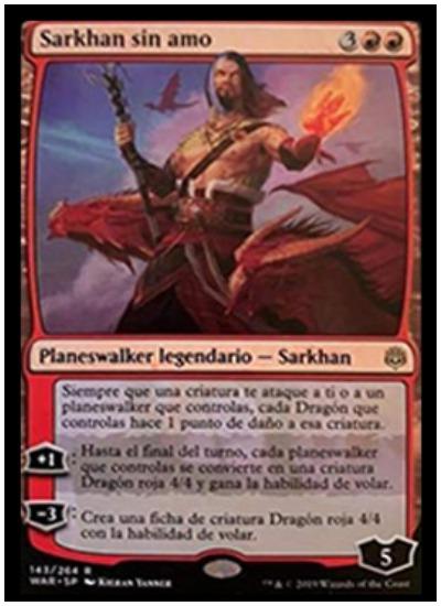Sarkan, the Masterless MTG War of the Spark Planeswalker
