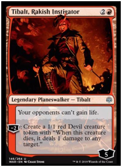 Tibalt, Rakish Instigator MTG War of the Spark Planeswalker
