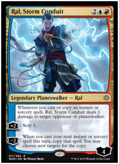 Ral, Storm Conduit MTG War of the Spark Planeswalker