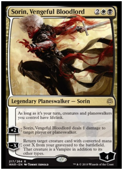 Sorin, Vengeful Bloodlord MTG War of the Spark Planeswalker