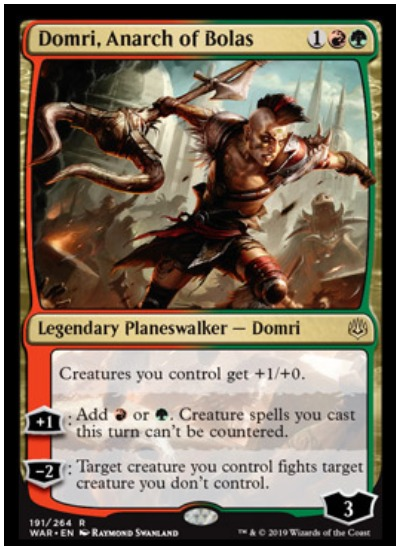 Domri, Anarch of Bolas MTG War of the Spark Planeswalker