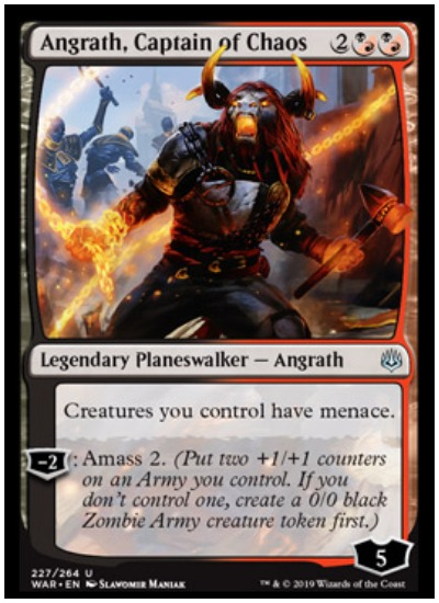Angrath, Captain of Chaos MTG War of the Spark Planeswalker