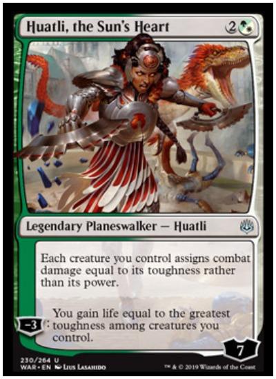 Huatli, the Sun's Heart MTG War of the Spark Planeswalker