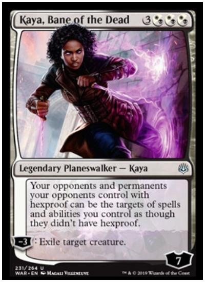 Kaya, Bane of the Dead MTG War of the Spark Planeswalker