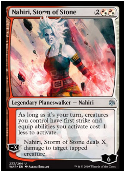 Nahiri, Storm of Stone MTG War of the Spark Planeswalker