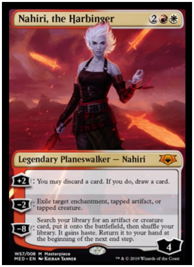 Nahiri, the Harbinger Mythic Edition foil planeswalker MTG War of the Spark