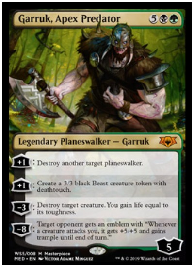 Garruk, Apex Predator Mythic Edition foil planeswalker MTG War of the Spark